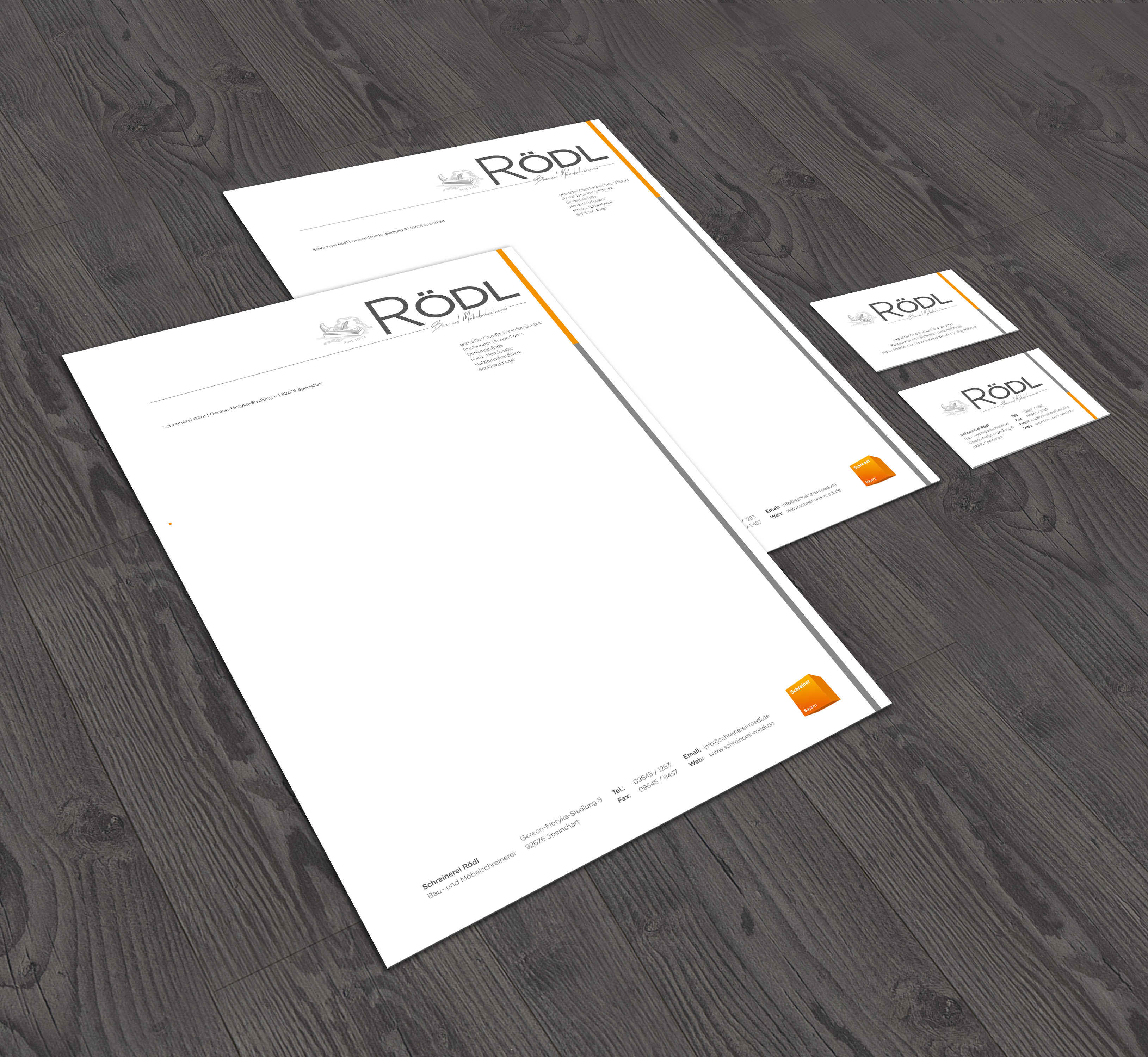 Corporate Design Schreinerei Rödl