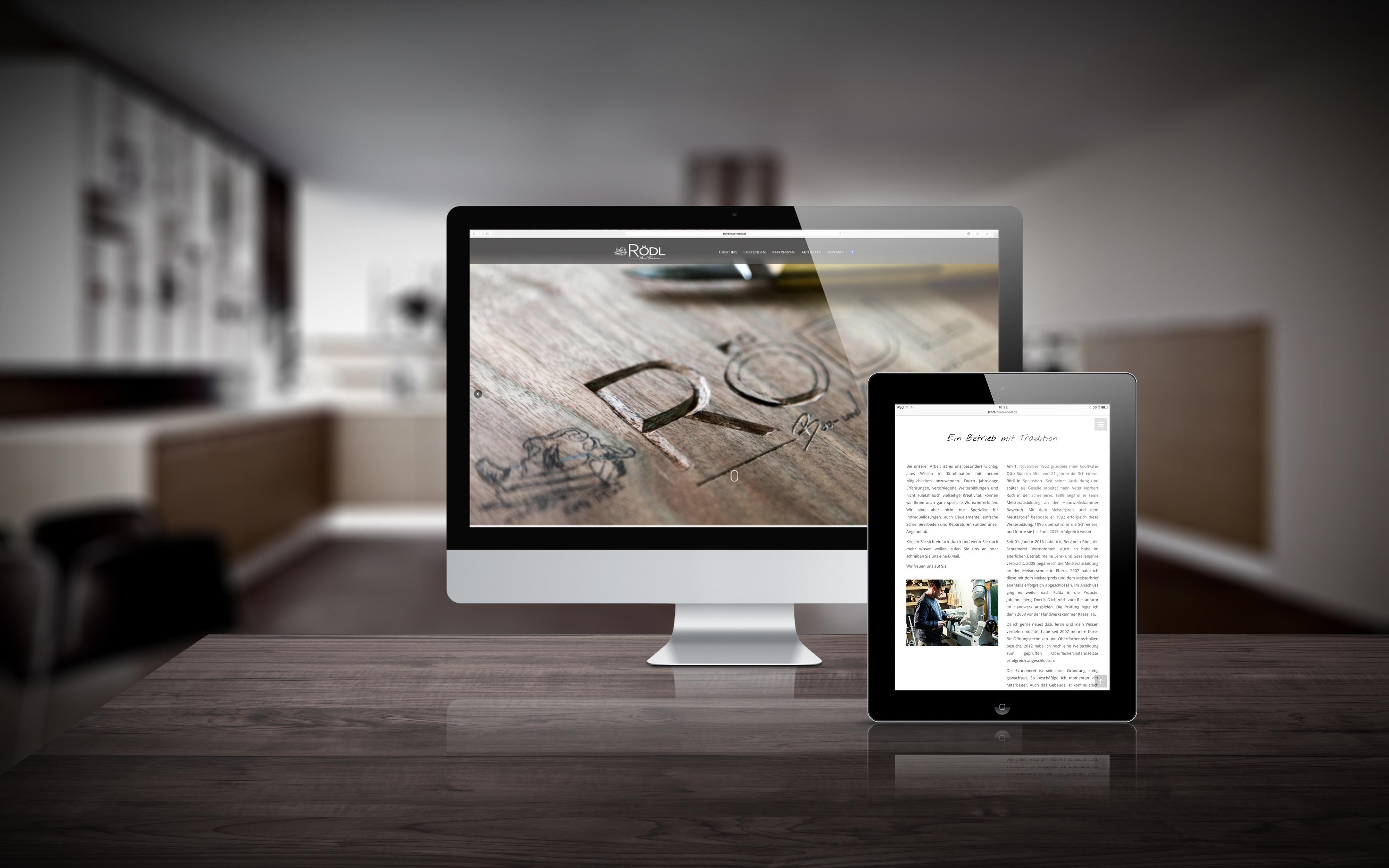 Webseite Schreinerei Rödl