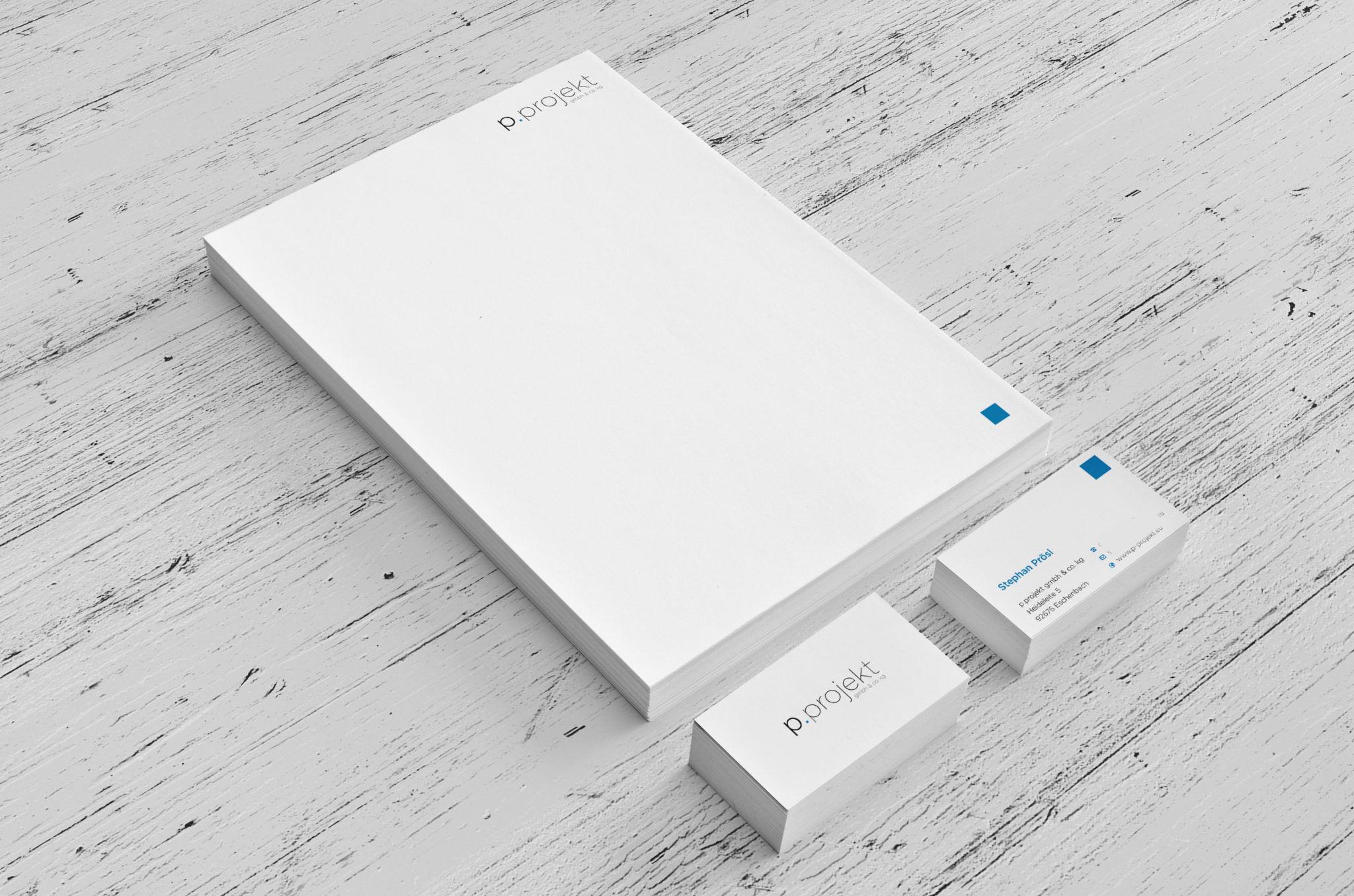 p. projekt corporate design