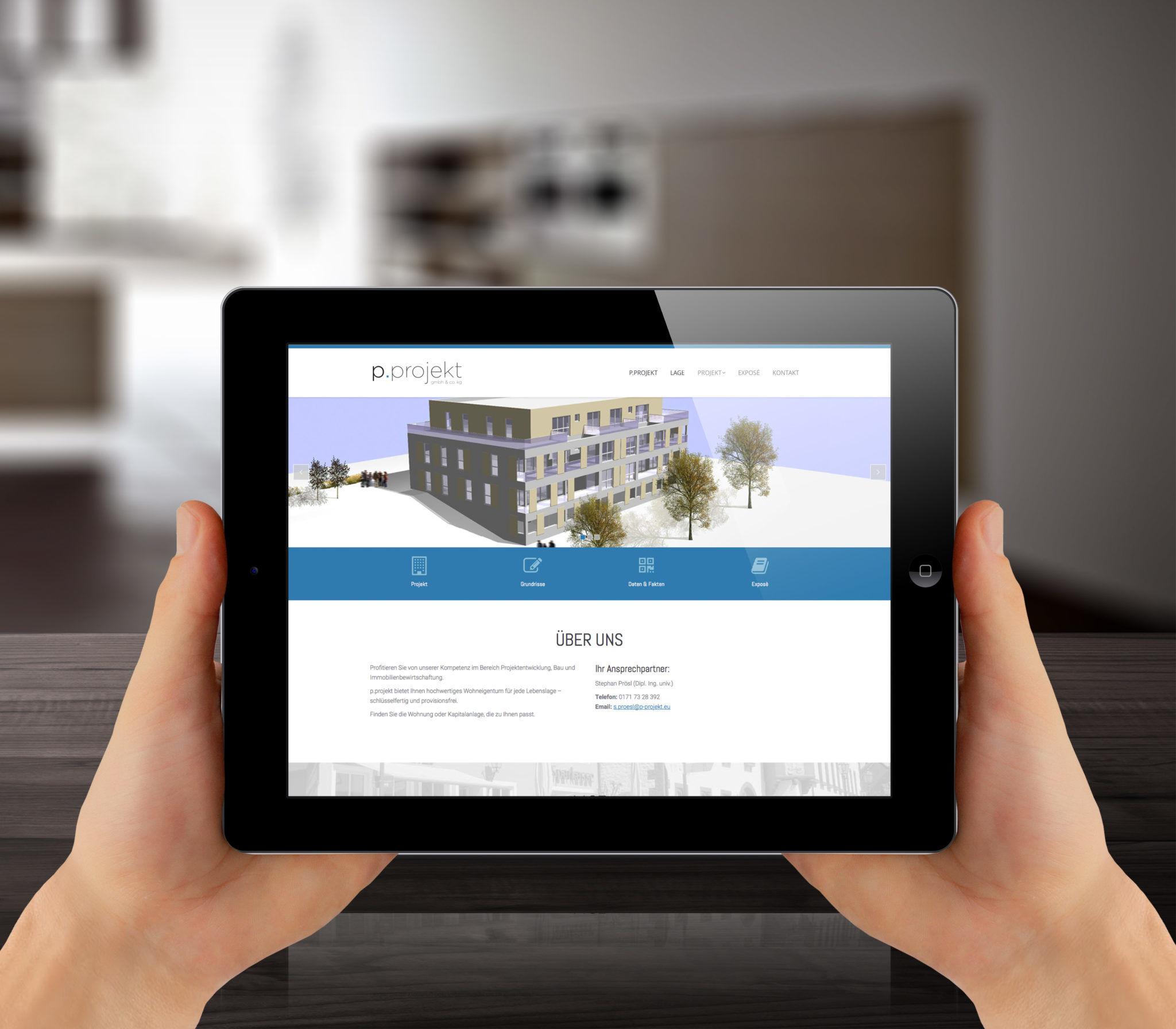 Webseite p.projekt