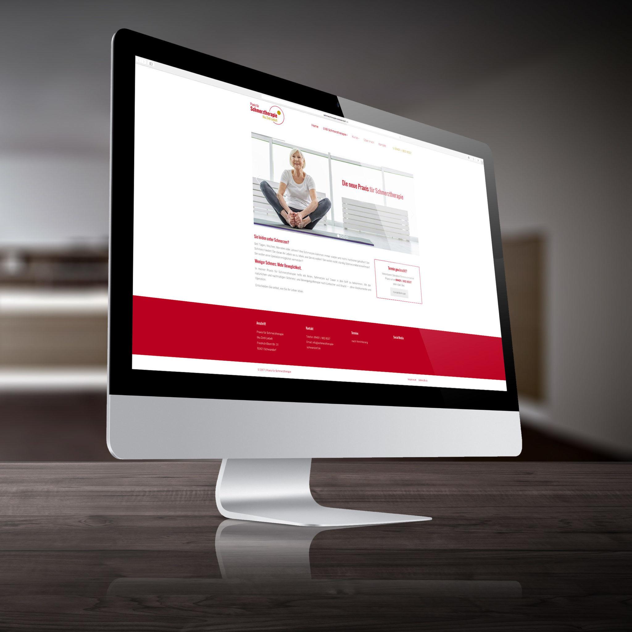 Webseite Schmerztherapie Schwandorf