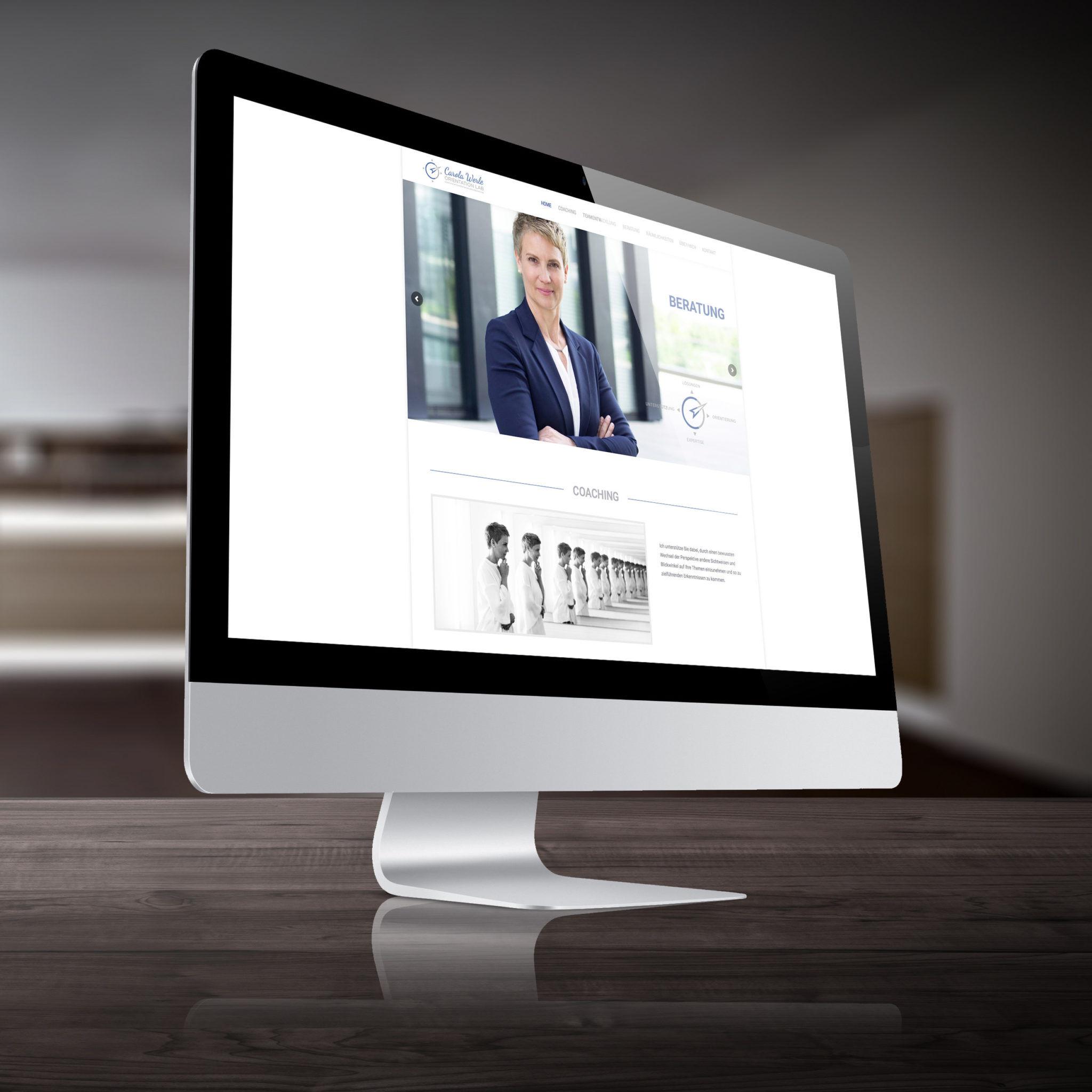 Webseite Carola Werle visualisiert