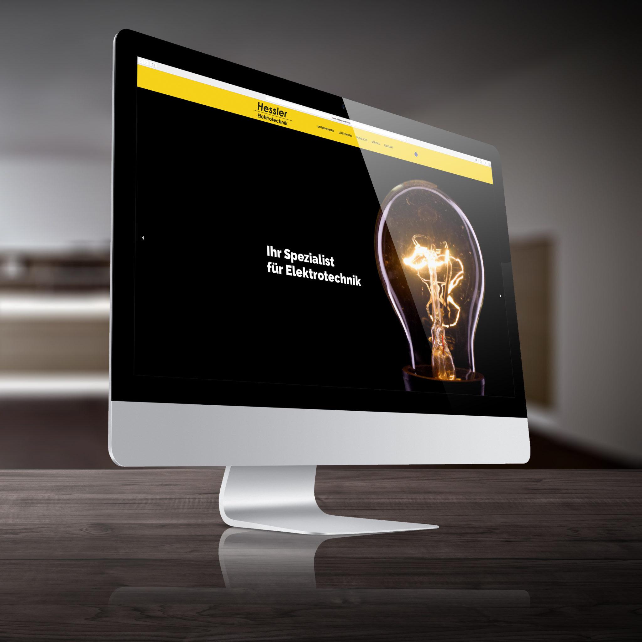 Webseite Elektro Hessler