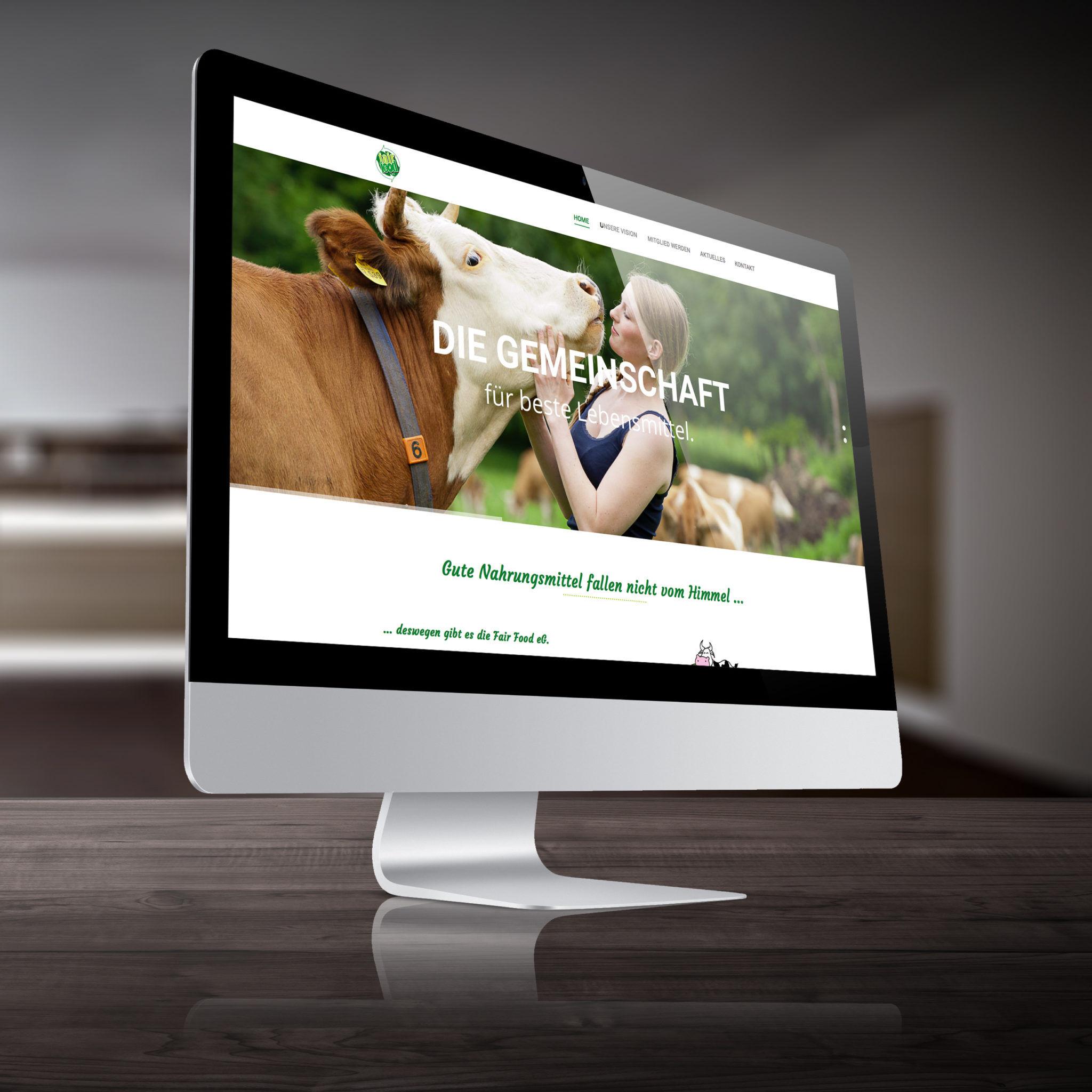 Fairfood Webseite visualisiert