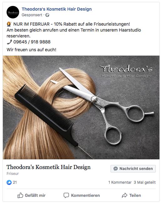 Theodoras Facebook Ad
