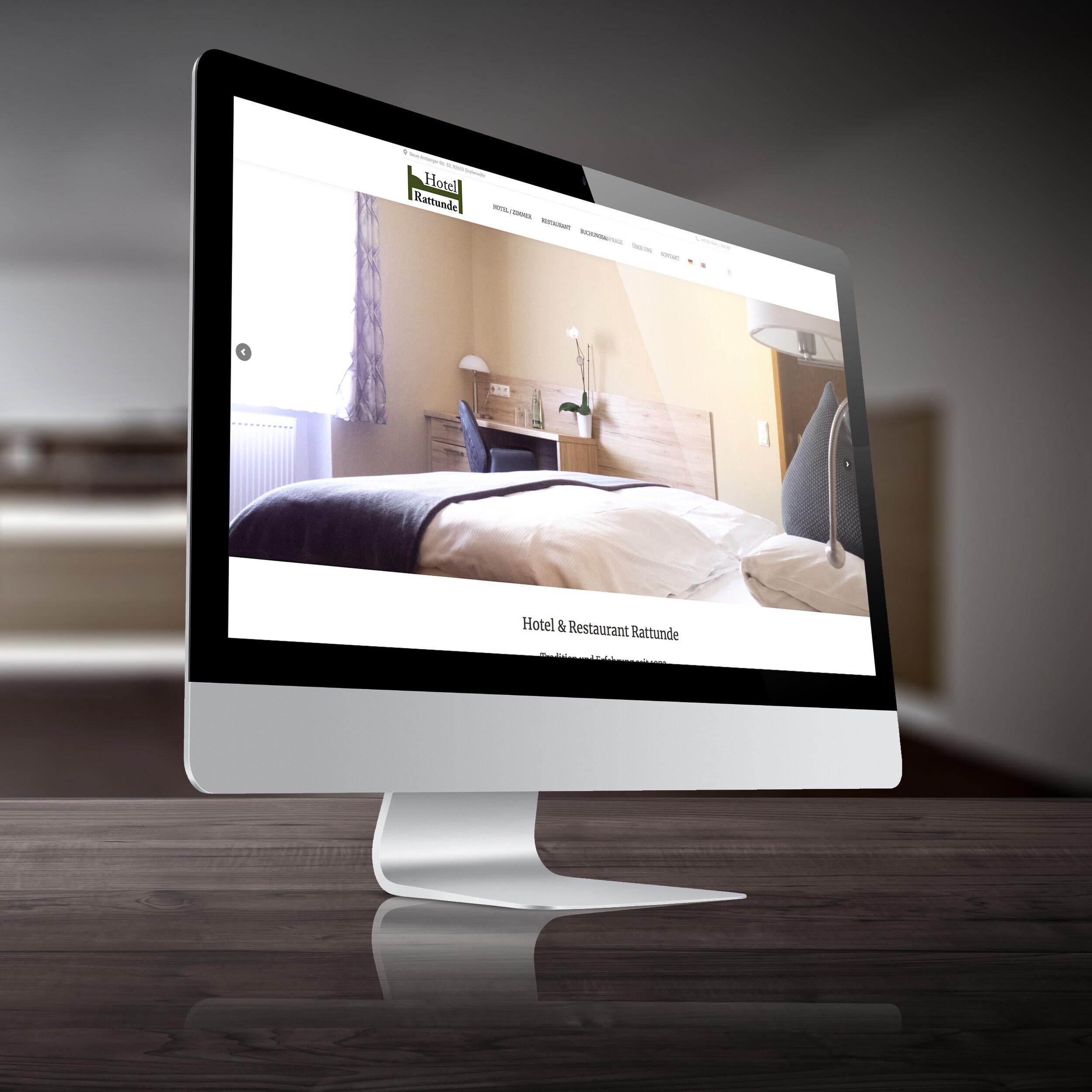 Webseite Hotel & Restaurant Rattunde