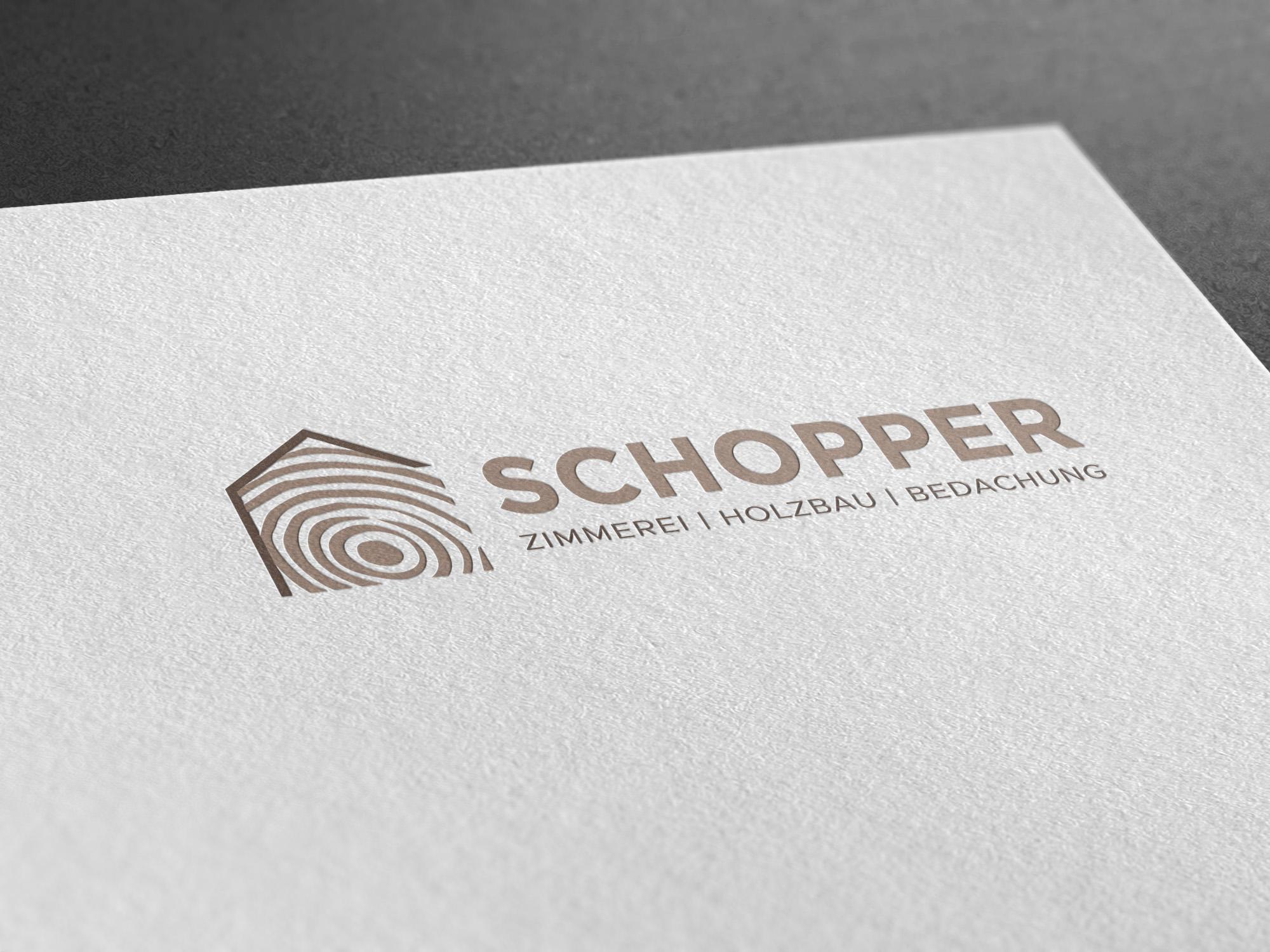 Logo für eine Zimmerei